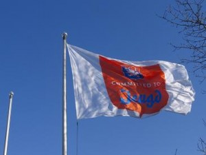 """Vlag """"Committed to Jeugd"""""""